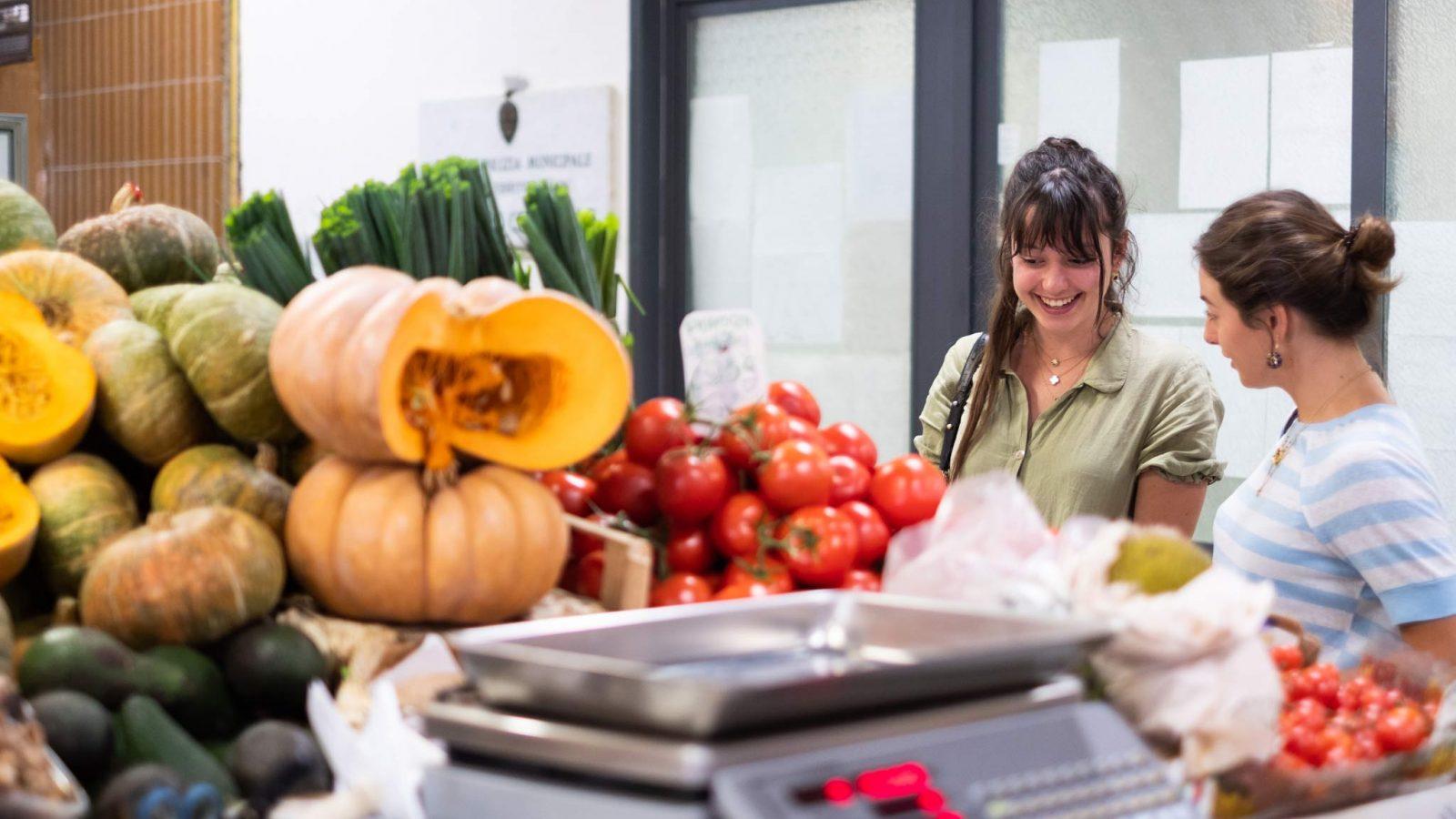 Italienischer Lebensmittelmarkt Florenz
