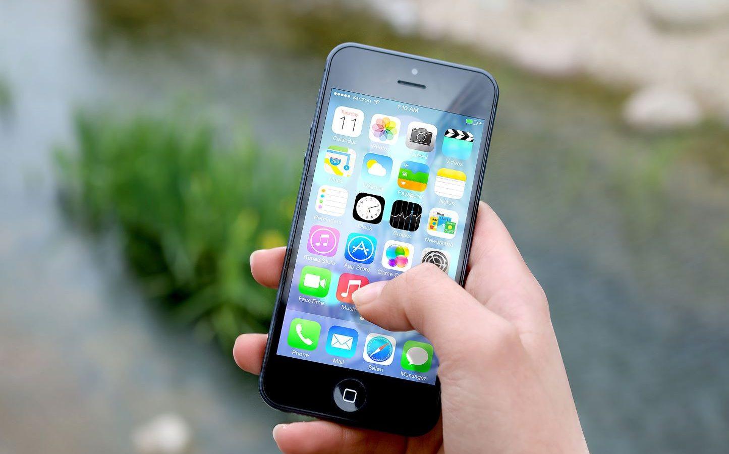 Mobil mit offenen Apps