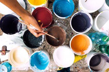 Farbkörbe malen