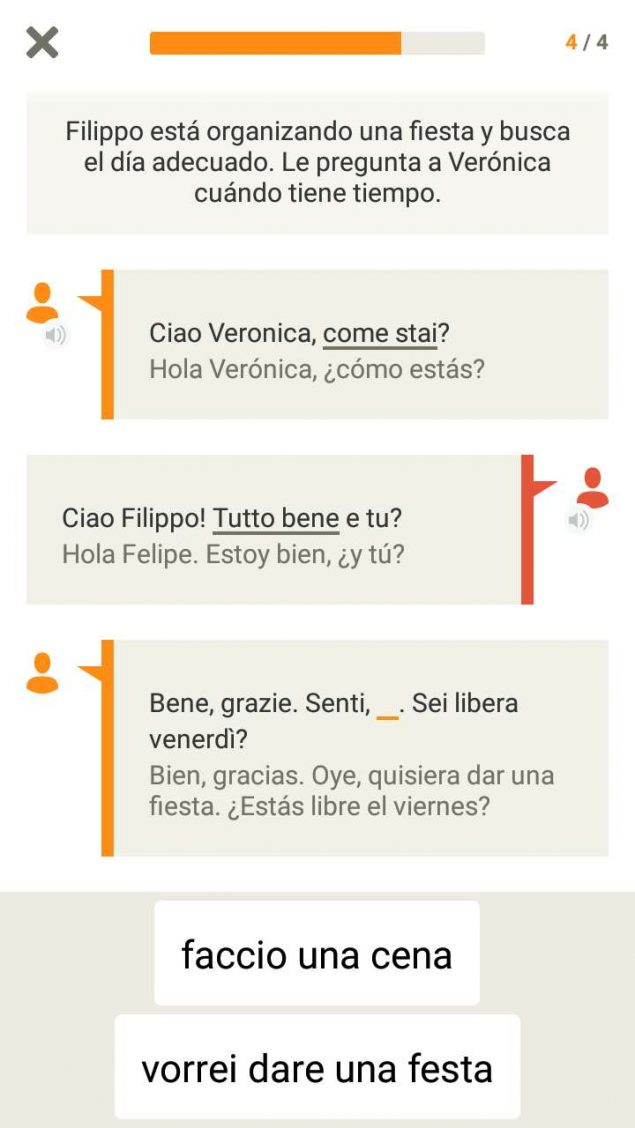 App screenshot from Babbel