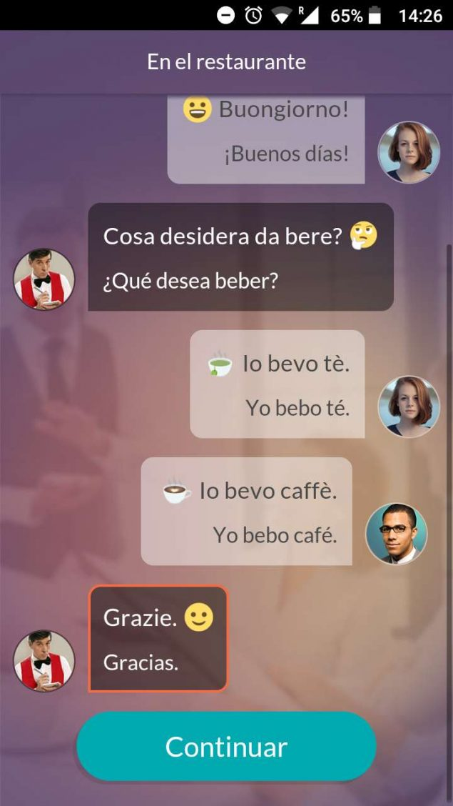 App screenshot from Mondly