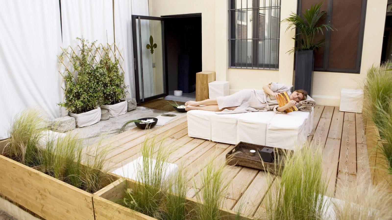 Relax nel patio della SPA