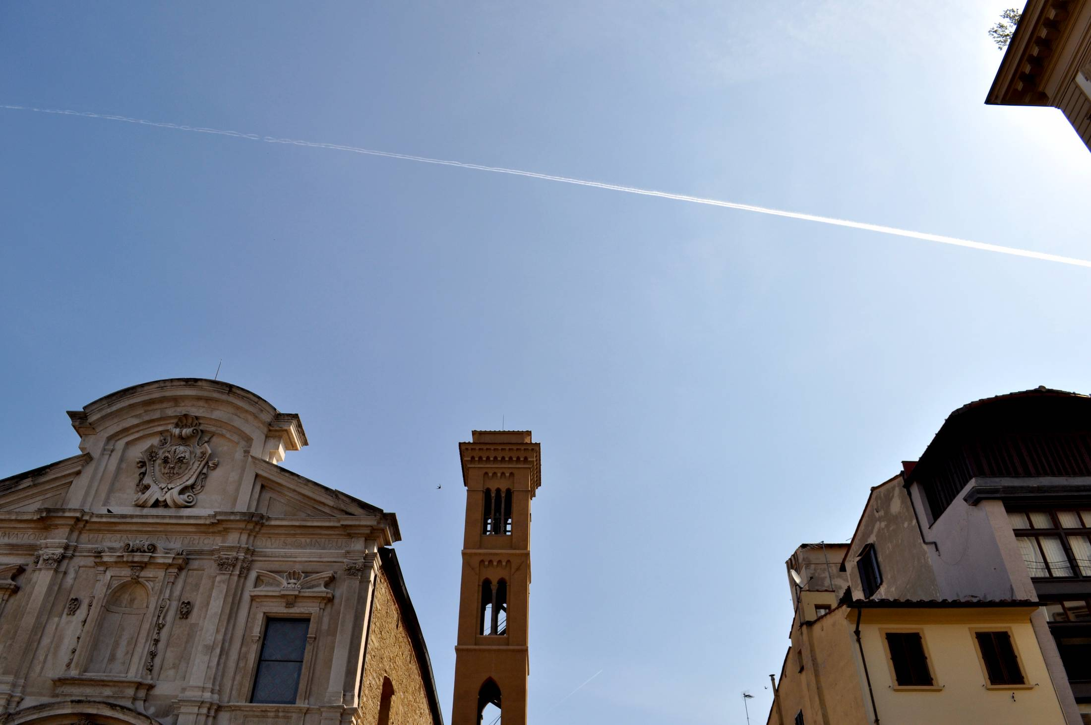 The sky over Florence in summer