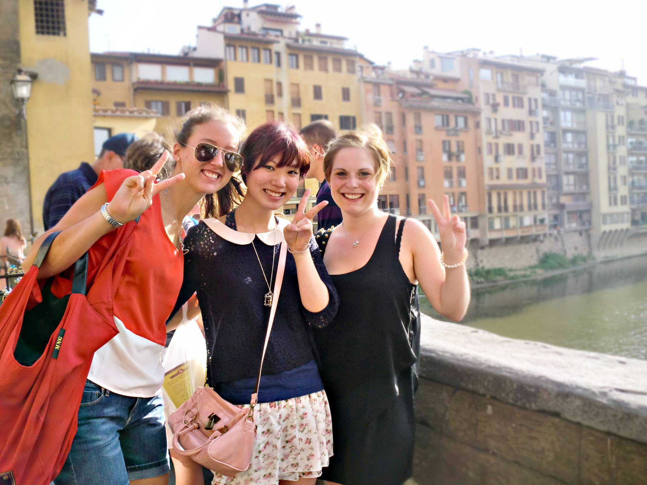 Young people in Florence for a learning holiday