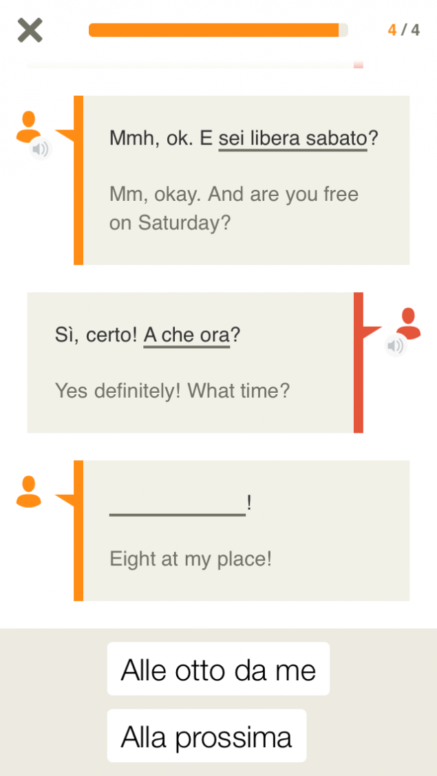 Babbel App Screenshot