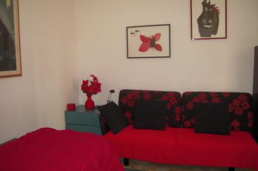Living room host family apartment