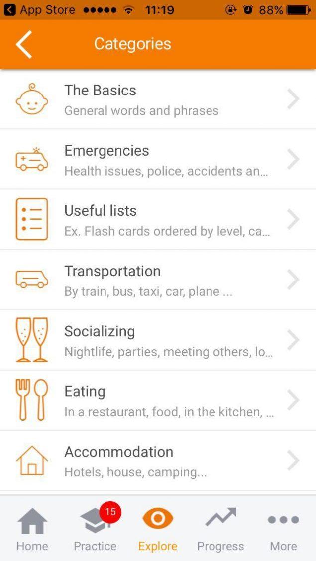 Mosalingua App Screenshot