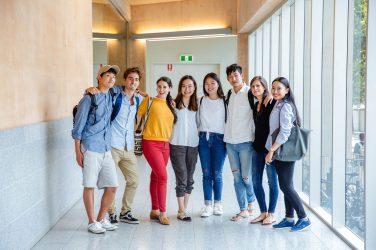 international class of teenagers